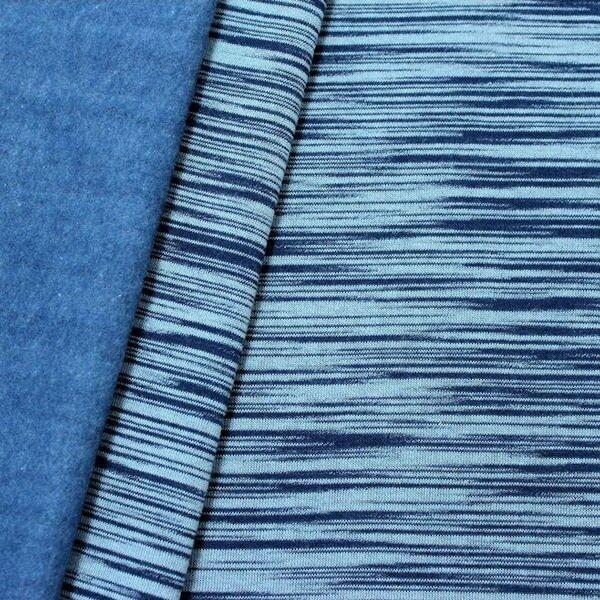 """2,50 Meter Sweatshirt Baumwollstoff """"Two Tone"""" Farbe Blau"""