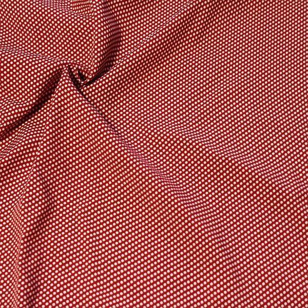 Viskose Javanaise Kleine Punkte Rot-Weiss