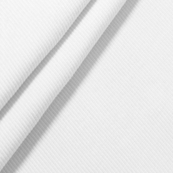 Baumwoll Bündchenstoff Farbe Weiss