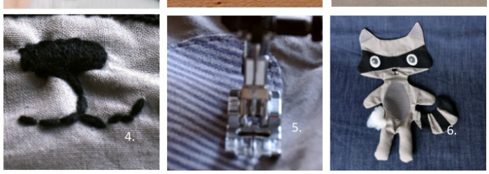 Kostenlose Nähanleitung für einen kuschligen Waschbären
