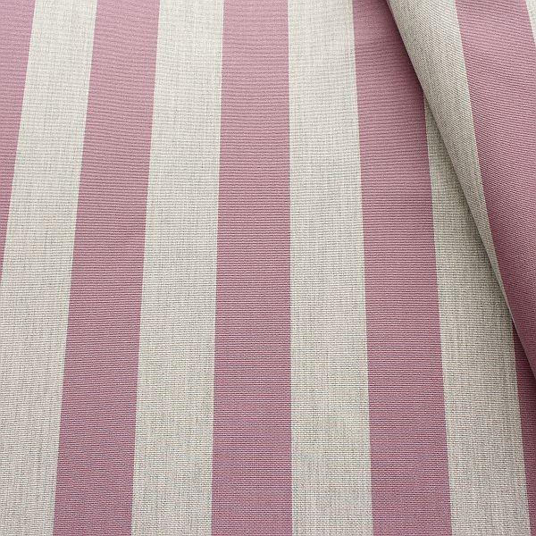 Indoor Outdoorstoff Blockstreifen Flieder-Grau meliert