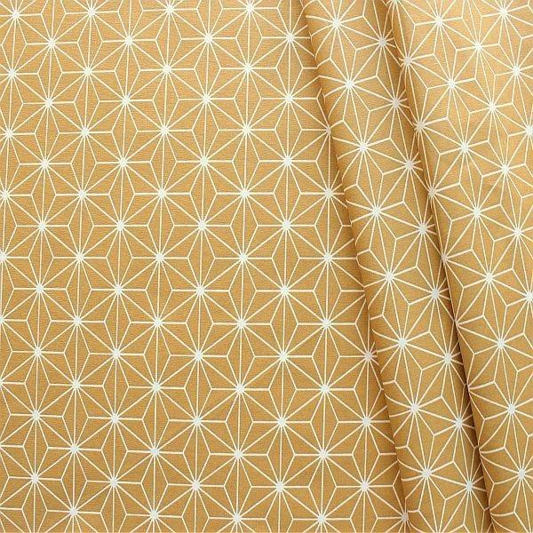 Baumwolle beschichtet Skandinivischer Stern Ocker-Gelb