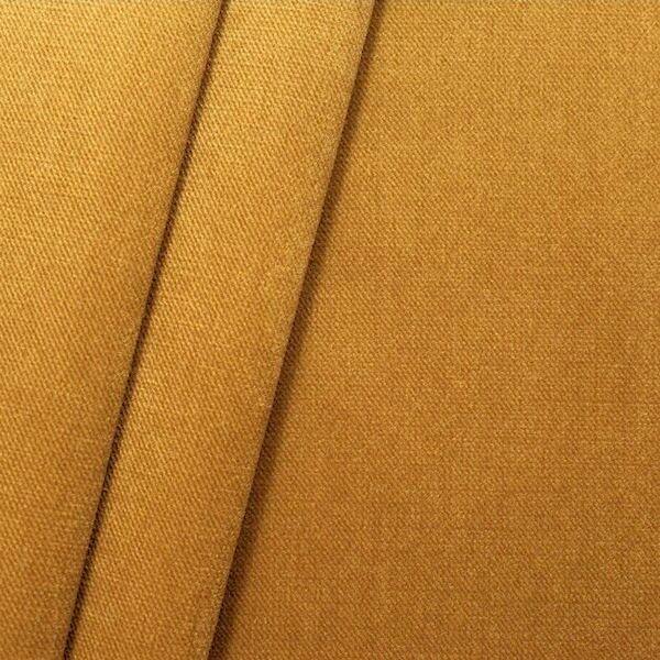 Polster- Möbelstoff Artikel New York Samt-Optik Farbe Gold-Gelb
