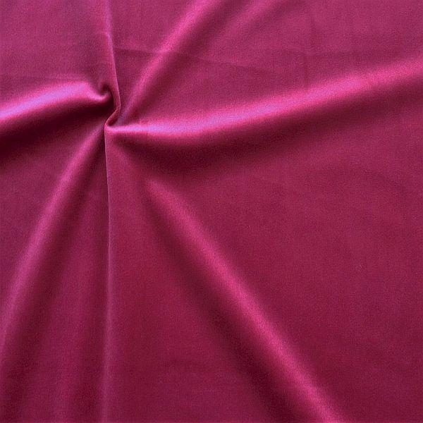 Microfaser Samt Stoff Velvet Touch Bordeaux