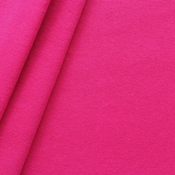 Baumwoll Bündchenstoff glatt Pink