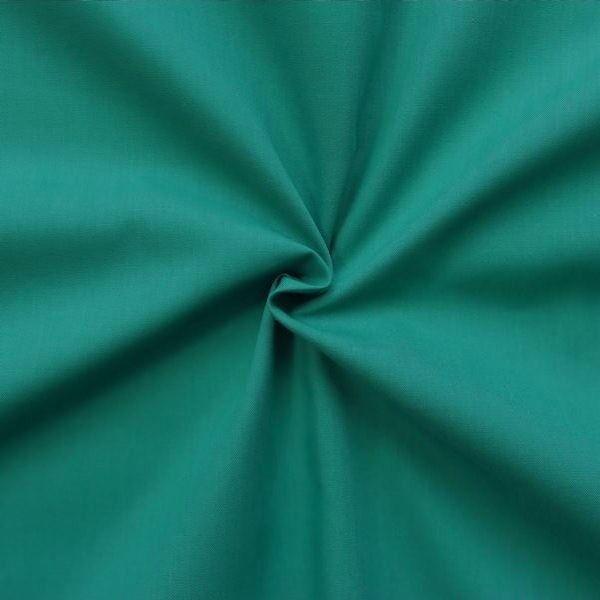 Baumwolle Polyester wie Batist Farbe Petrol