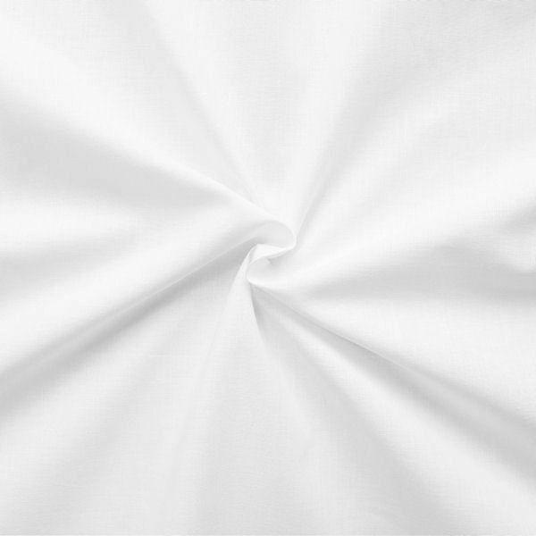 Baumwollstoff Lakenstoff Breite 195cm Farbe Rein-Weiss