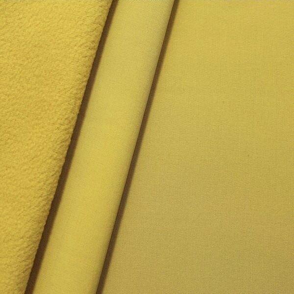 Softshell Fleece Stoff Curry-Gelb