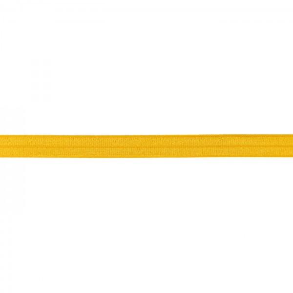 Elastisches Einfassband glänzend Senf-Gelb