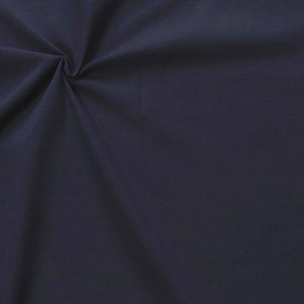 Baumwoll Stretch Jersey Fashion Basic Dunkel-Blau
