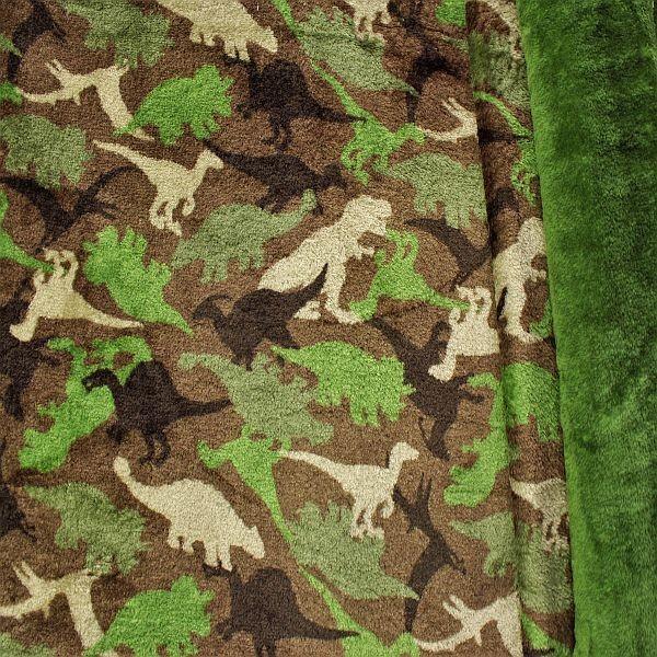Wellness Fleece Dinos Khaki-Grün