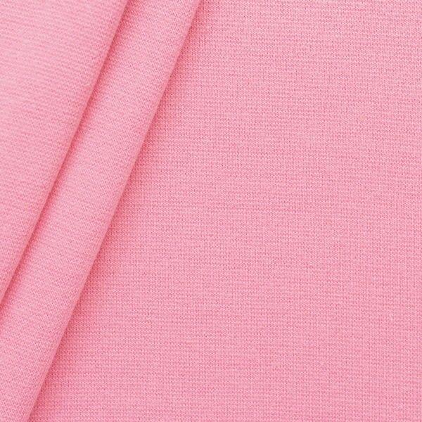 """Baumwoll Bündchenstoff """"glatt"""" Farbe Rosa"""