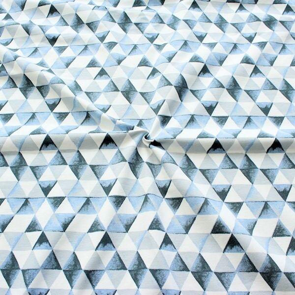 Organic Sweatshirt Baumwollstoff Dreiecke Blau