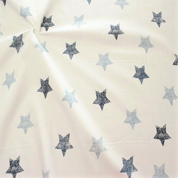 Dekostoff Halbpanama Vintage Stars Blau