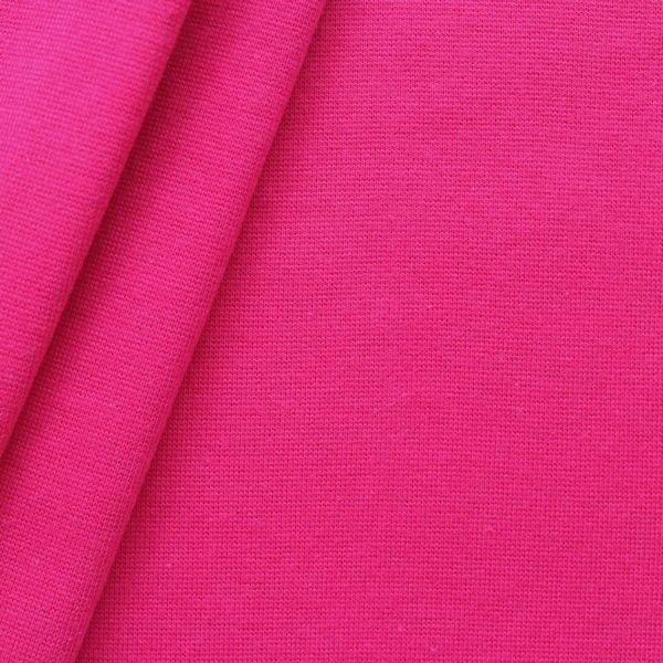 "Baumwoll Bündchenstoff ""glatt"" Farbe Pink"