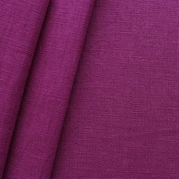 100% Leinen Stoff Artikel Girona Farbe Purpur-Violett