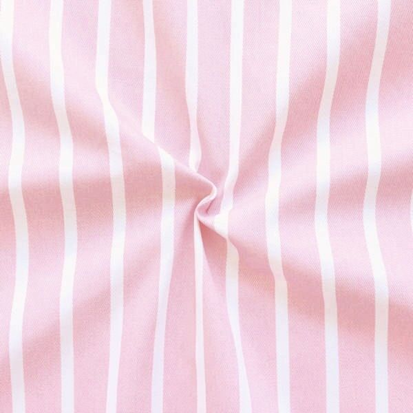 "100% Baumwolle Köper ""Fashion Stripes"" Farbe Rosa"