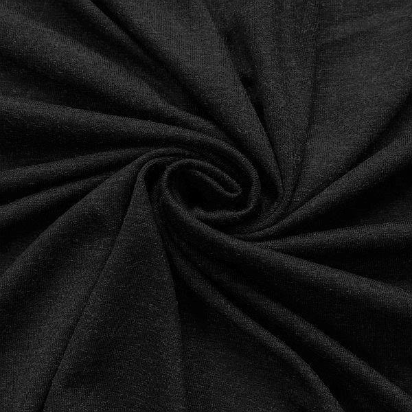 Viskose Stretch Jersey Schwarz meliert