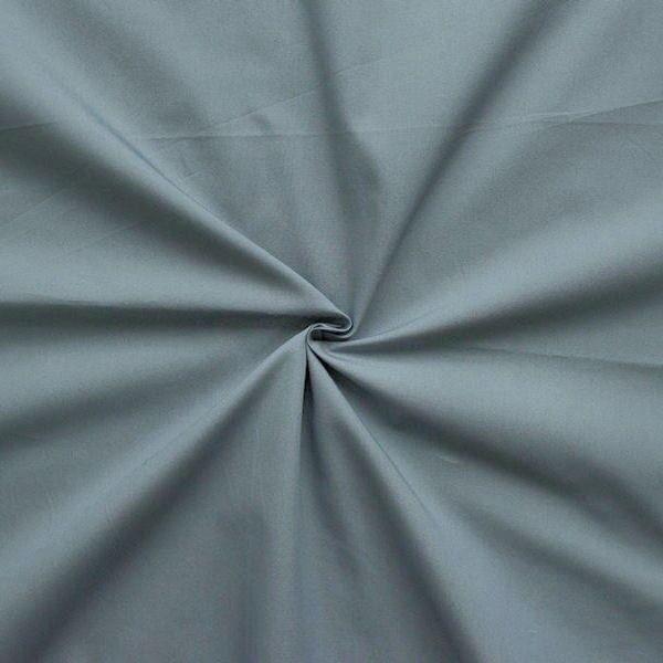 100% Baumwolle Popeline Staub-Grau