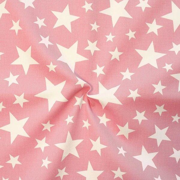 "100% Baumwolle Köper ""Sterne Mix 18"" Farbe Pink"