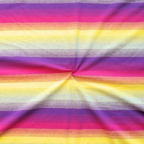Baumwoll Stretch Jersey Stripe in Stripe Lila- Multicolor