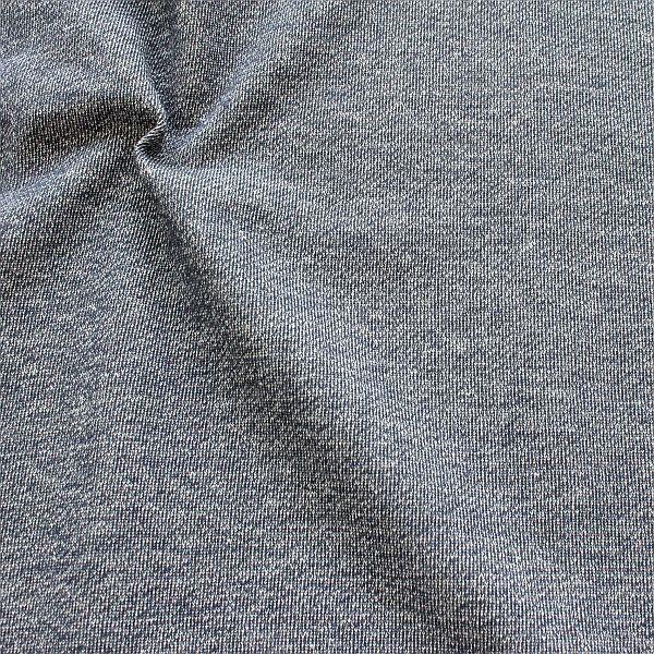 Sweatshirt Baumwollstoff French Terry Melange Dunkel-Blau