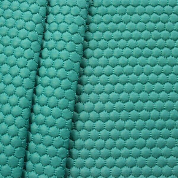 Steppstoff wattiert Waben klein Wasser-Blau