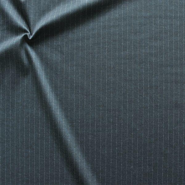Romanit Jersey Nadelstreifen Optik Dunkel-Blau meliert