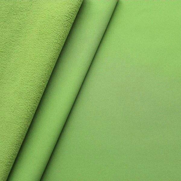 Softshell Fleece Stoff Lind-Grün