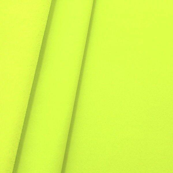 Softshell Fleece Stoff Neon-Gelb