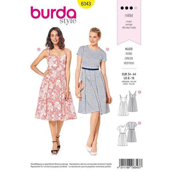 Trägerkleid, Kleid 34 - 44, Schnittmuster Burda 6343