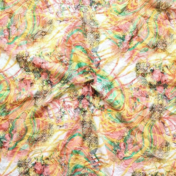 "Crinkle Modestoff ""Summer Fashion 3"" Multicolor"