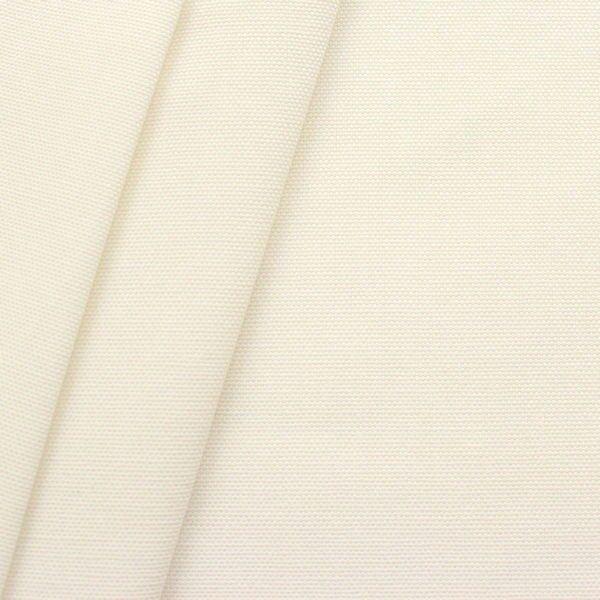 100% Baumwolle Canvas Creme-Weiss
