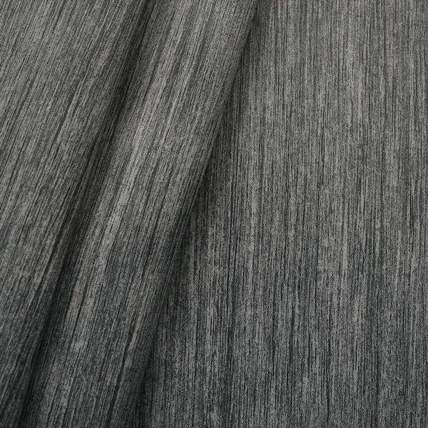 "6,20 Meter Verdunkelungs- Thermo Vorhangstoff Black Out ""Holzmaserung"" Farbe Dunkel-Grau"
