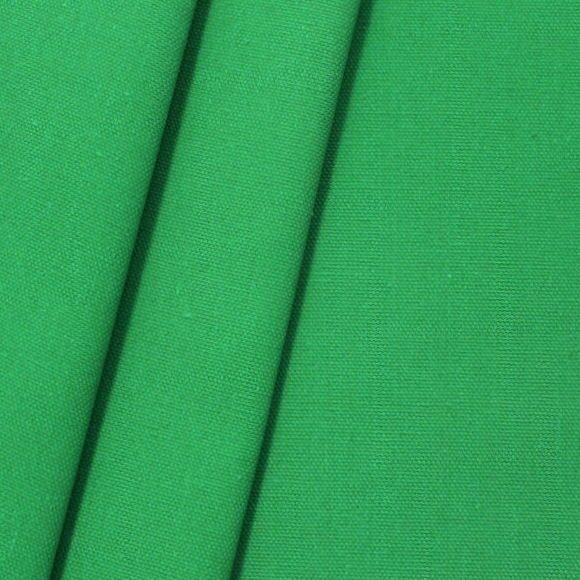 100% Baumwolle Canvas Gras-Grün