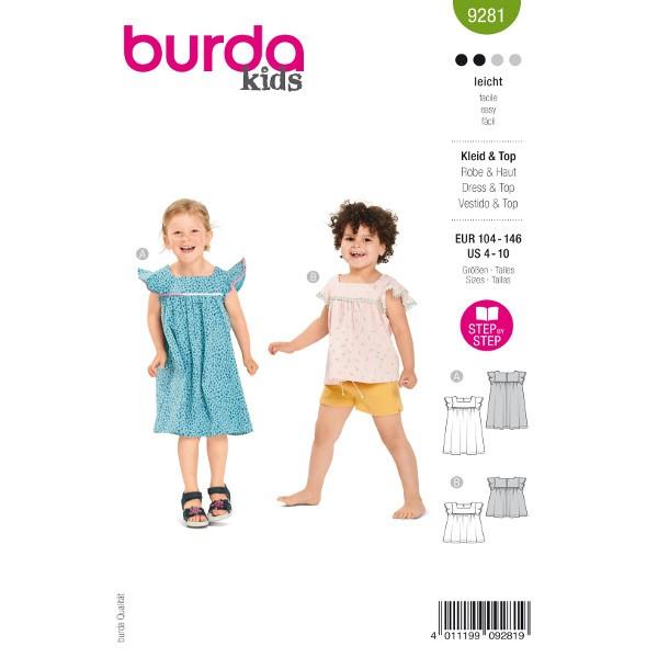 Kleider für Kinder, Gr. 104 - 146 Schnittmuster Burda 9281