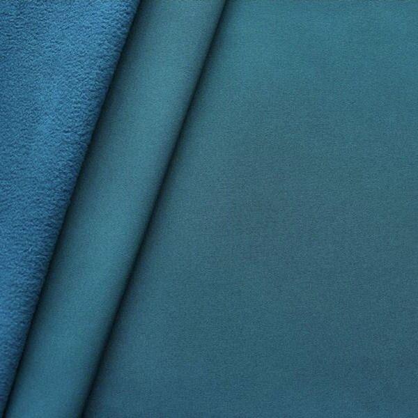Softshell Fleece Stoff Petrol