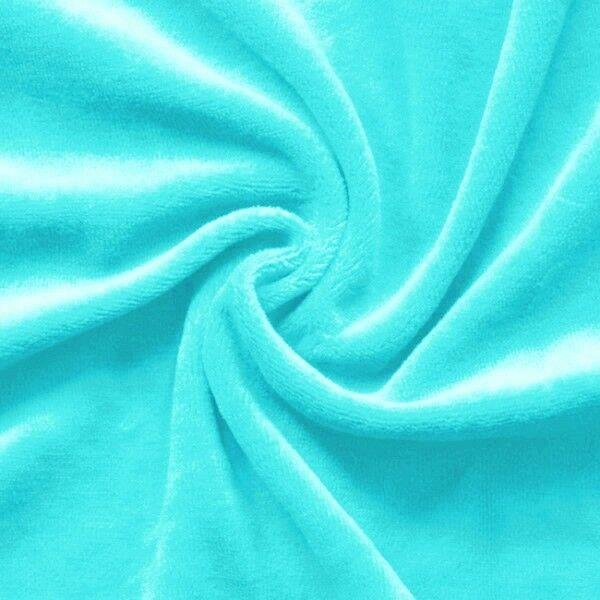 Nicki Baumwollstoff Farbe Himmel Blau