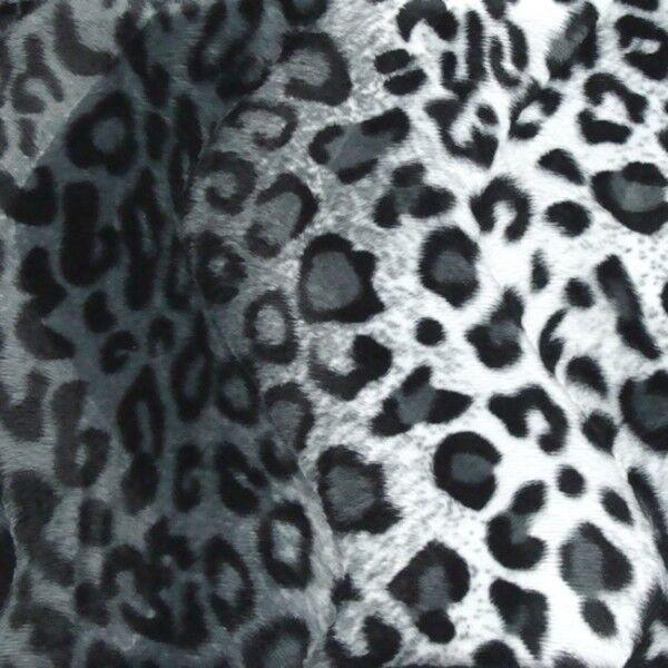 Schneeleopard Tierfellimitat Velboa