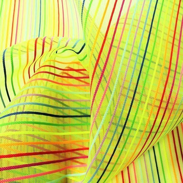 Netzstoff Meshgewebe Streifen Gift-Grün