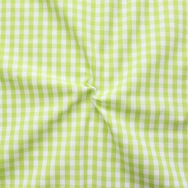 """Baumwollstoff Hemden Qualität Vichy """"Karo mittel"""" Farbe Lind-Grün Weiss"""