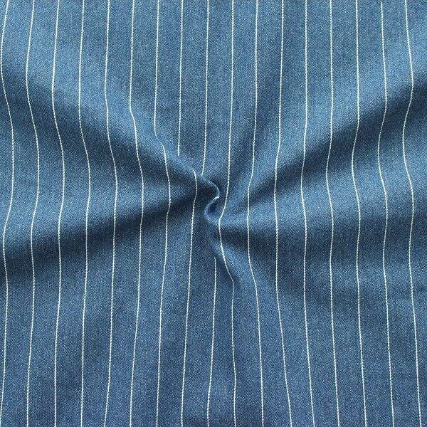 Stretch Denim Jeans Nadelstreifen Jeans-Blau