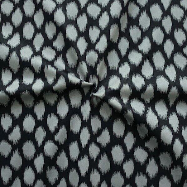 """Stretch Baumwollstoff """"Diamonds"""" Farbe Schwarz-Grau"""
