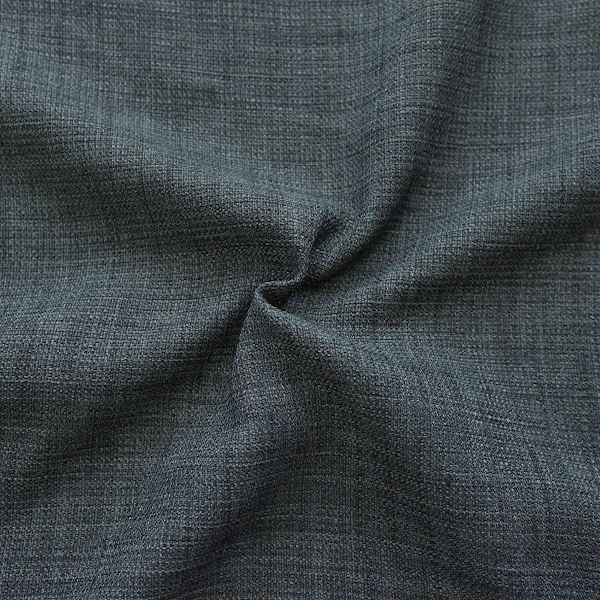 Modestoff Dekostoff universal Leinen Optik Blau-Grau
