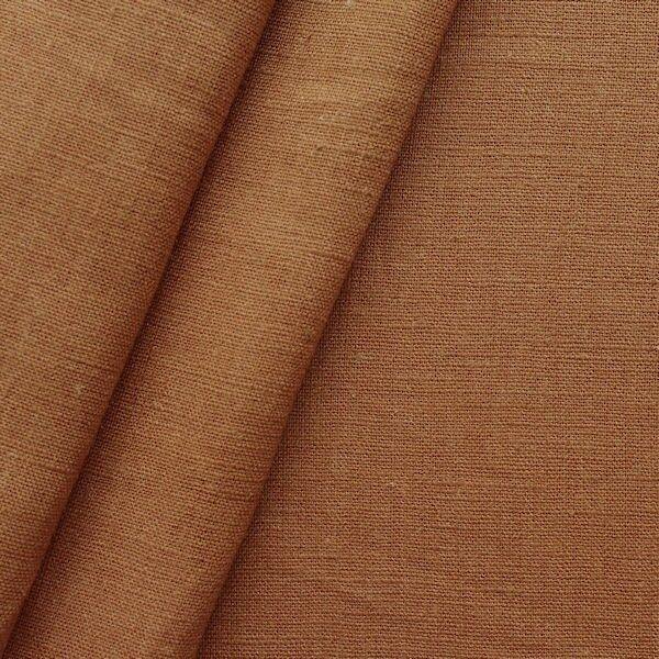 100% Leinen Stoff Artikel Girona Farbe Terrakotta