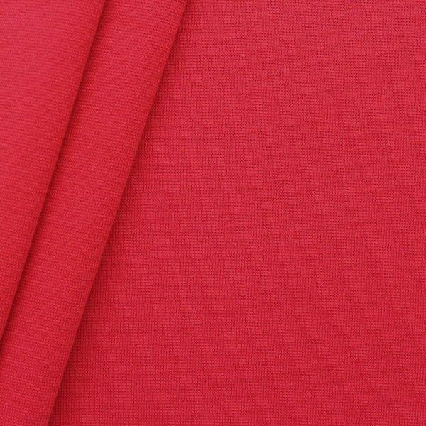 Baumwoll Bündchenstoff glatt Rot