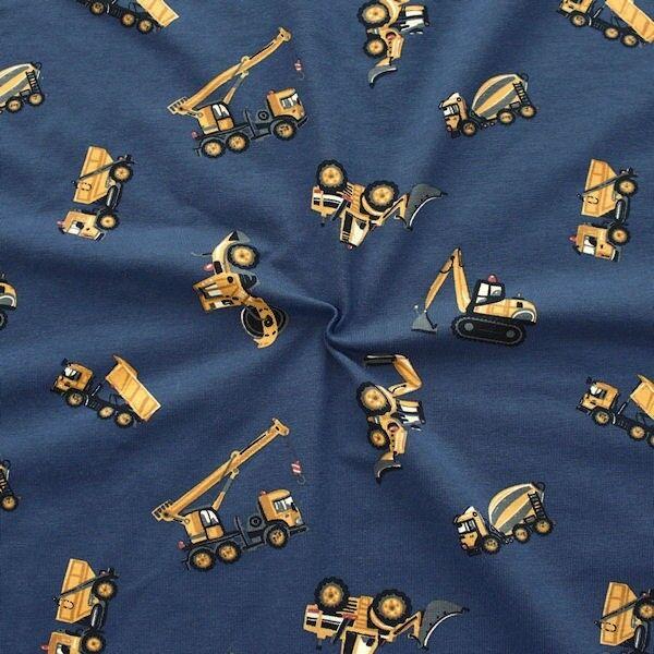 "Baumwoll Stretch Jersey ""Bagger & Co 2"" Farbe Blau"