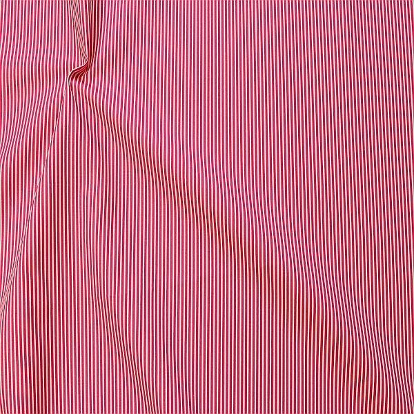 Baumwollstoff Längsstreifen fein Pink-Weiss