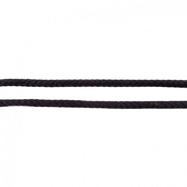 Baumwollkordel 8mm  Schwarz
