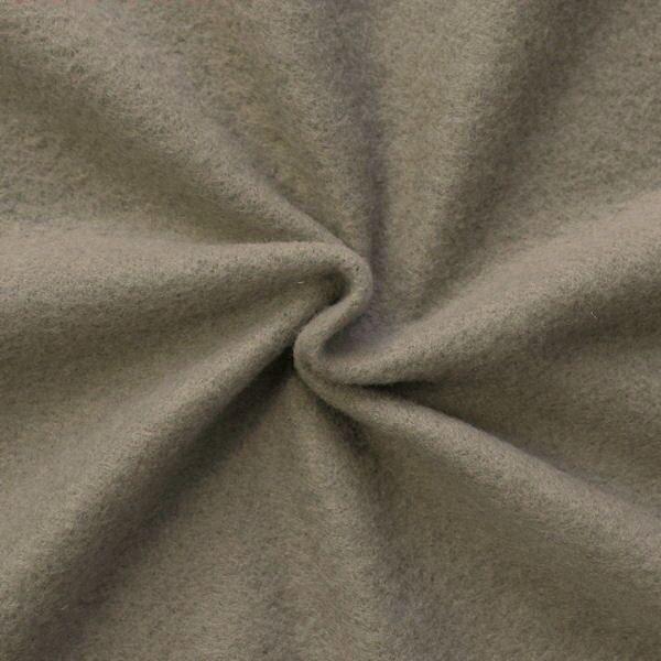 Strickstoff Flauschstoff Super Soft Taupe